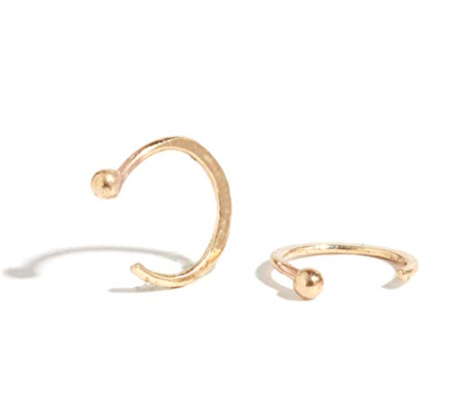 Melissa Joy Manning 14k Gold Mini Hug Hoop - Melissa Aquamarine Manning Joy Earrings