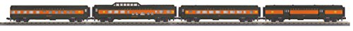O Gauge RailKing 4-Car 60' Streamlined Passenger Set