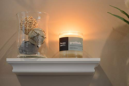 Yes You Candle - Inspirational 8oz Soy Candle, Bergamot and Citrus, Highly Fragranced & Hand-Crafted, Gratitude