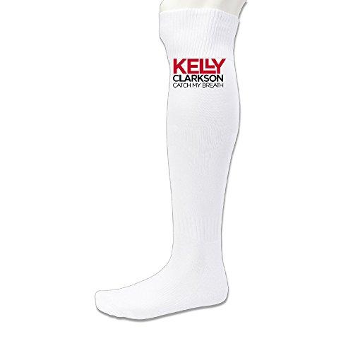 [EDRE Kelly Clarkson Men's&Women's Training SocksWhite (1 Pair)] (Scott Hall Costume)