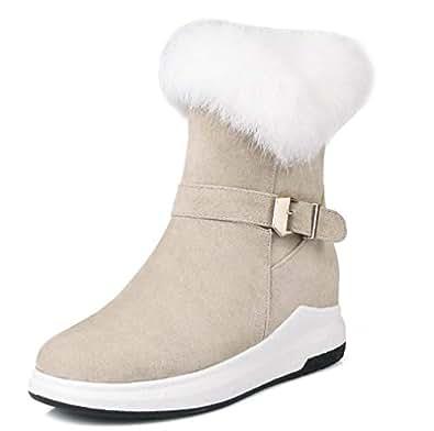 Amazon.com   T-JULY Winter Boots Women Warm Platform
