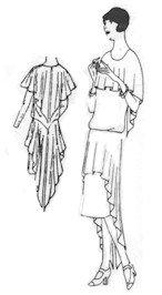 1926 Flapper-Slip-On Bloused Dress Pattern
