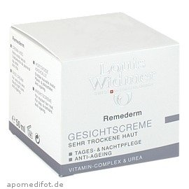(Louis Widmer Remederm Face Cream for Very Dry Skin Day and Night Care Anti-ageing (Scented) 50 ml )