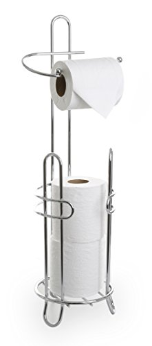 BINO 'The Millenium' Free Standing Toilet Paper Holder, Chrome (Chrome Toilet Paper Caddy)