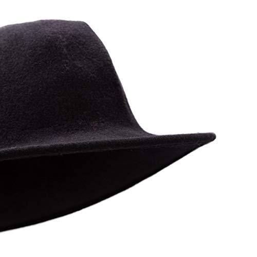 Femme Chapeau Noir Knittedfloppyblack No Hats Laine CYBUqvx
