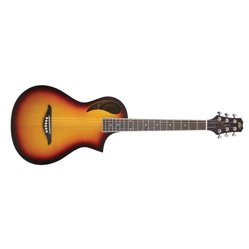 Peavey Composer Parlor Acoustic Guitar, 18 Frets, Eastern Mahogany Neck, Spruce Laminate Top, Rosewood Fingerboard, Sunburst (Mahogany Neck Rosewood Fingerboard)