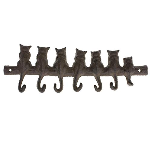 Woopoo Bear/Cat Vintage Cast Iron Wall Hooks - Decorative Cast Iron Wall Hook Rack- Stationary Hanger- Hats Bag Key Coat Vintage Design Hooks - Wall Mounted - Home Decorative Gift (Cat)]()