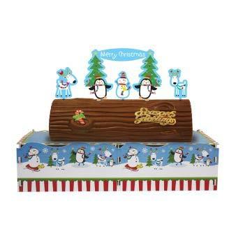 - Amscan Joyful Snowman Christmas Party Yule Log Cake Stand