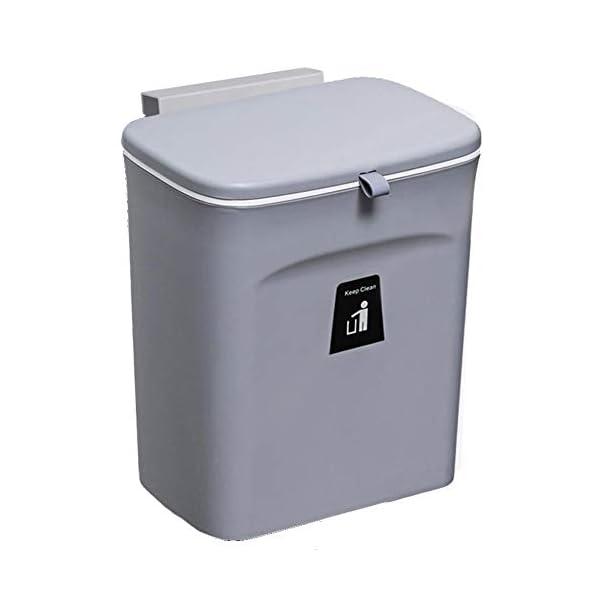31rwhsTBelL Curious Fish Wandküchenschrank Tür Hängende Tür Kunststoff-Mülleimer mit Deckel Schiebeabdeckung unter Waschbecken…