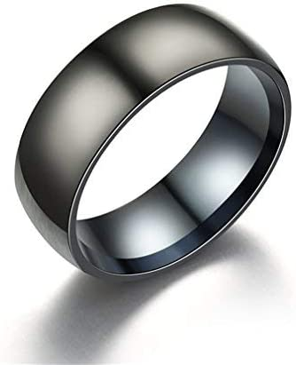 Stainless Steel Matte Finished Skull Face Flat Band Ring