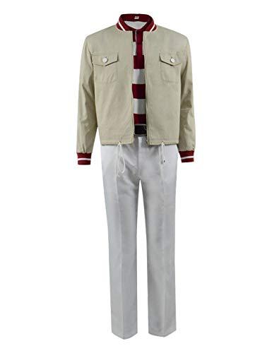 YANGGO Mens 3pcs Outfits Truman Show Burbank Costume for Halloween Cosplay (XXXL, Beige)