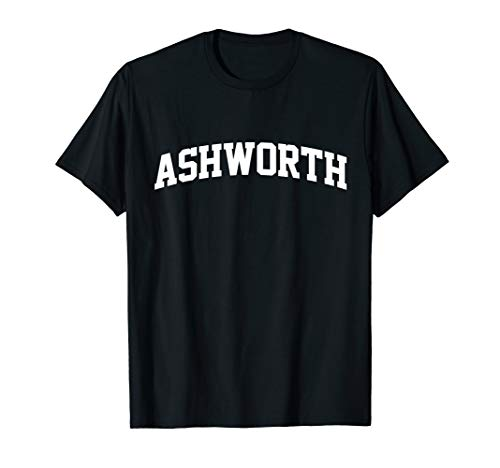 - Ashworth Name Family First Last Retro Sports Arch T-Shirt
