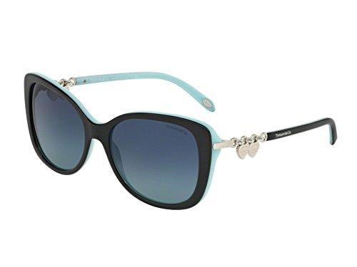 Tiffany TF4129 80559S Black/Blue TF4129 Rectangle Sunglasses Size - Tiffany Sunglasses Mens And Co