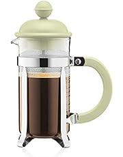 Bodum 1913-339B-Y19 French Press Coffee Maker, Glass, 3 Cup, Green