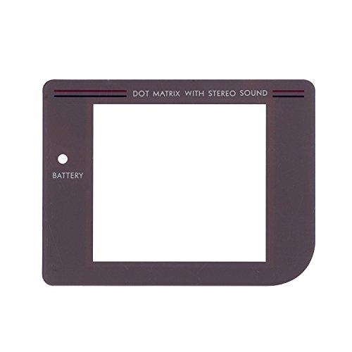 eJiasu Cubierta de la caja reemplazo de la pantalla GB protectora de la lente de la lámpara con agujero para Nintendo Game Boy Original System / Game Boy lente protector de la pantalla (gris) (1 pieza 1 pieza