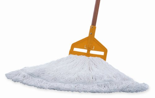 Rubbermaid Commercial 20 OZ Nylon Finish Mop, 1 IN Headband, White, (FGT20006WH00)