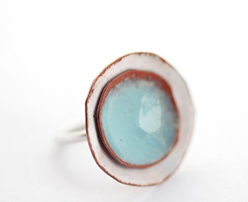 Enamel disks Ring (Brilliant Period Cut Glass)