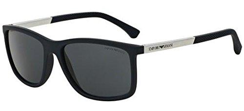 Emporio Armani EA4058 547487 Matte Blue EA4058 Square Sunglasses Lens Category