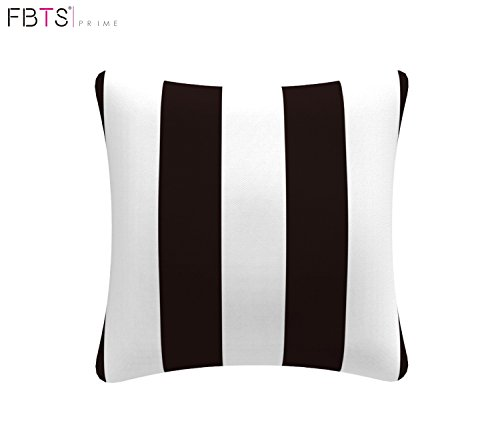 Black & White Throw Pillow is a great layering option for balcony decorating