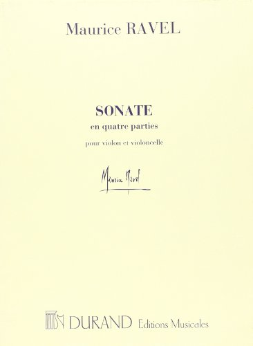 SONATA (Ravel Sonata For Violin And Cello Sheet Music)