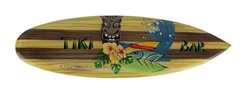 - Zeckos Tropical Tiki Bar Mini Wooden Surfboard Wall Hanging 20 Inch