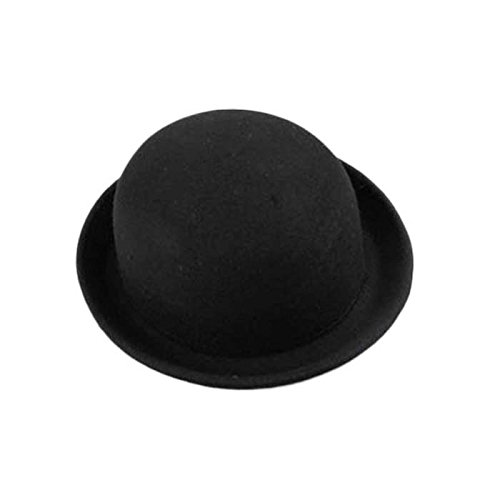 Women Hat, ღ Ninasill ღ Exclusive Dome Cashmere Bowler Hats (Black)