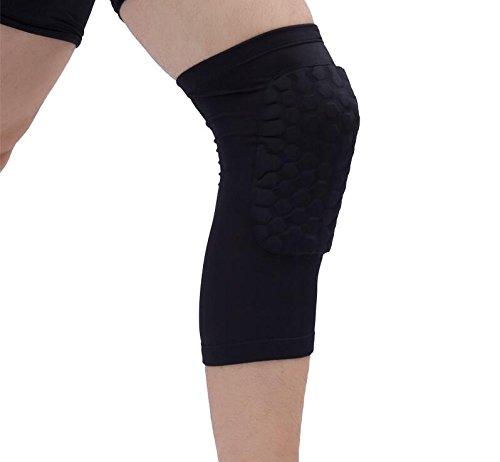Goalie Knee Junior Pads Hockey (Besplore Sports Knee Pads,Outdoor Sports Protection Knee Pads, Shockproof,Breathable,Black)