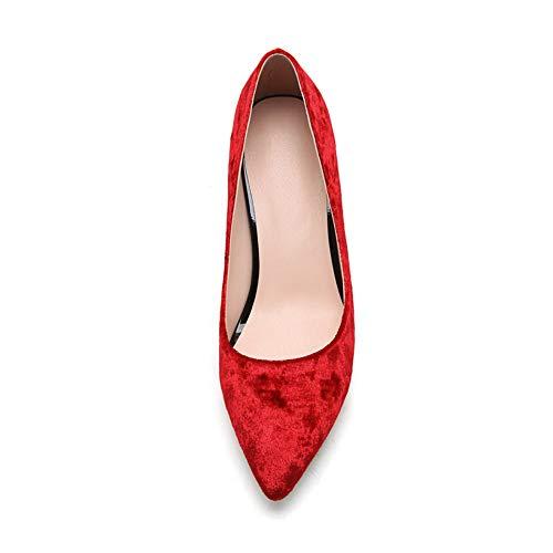 EU Femme Red Rouge Sandales 36 AN DGU00666 Compensées 5 8wtfxTq