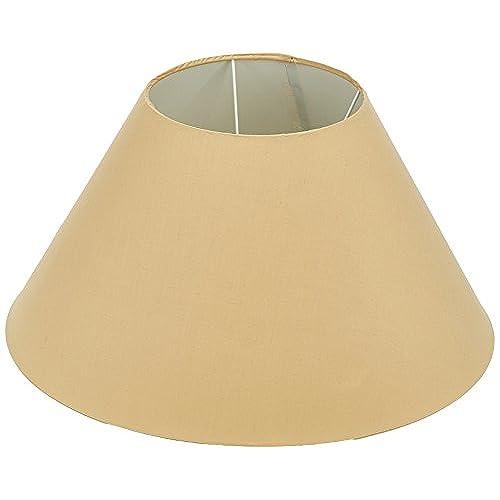 Oaks Lighting Abat-jour conique en coton Beige 50 cm Support vendu séparément