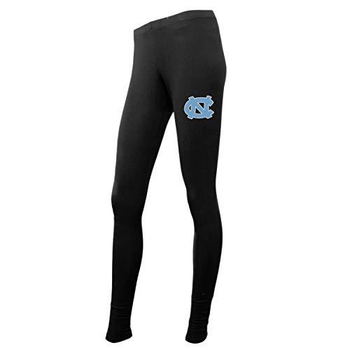 Concepts Sport Ladies NCAA Black Leggings-North Carolina Tar Heels-Medium (North Carolina Workout Pants)