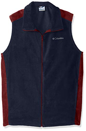 Columbia Men's Big and Tall Steens Mountain Big & Tall Vest, Collegiate Navy, red Element, XLT