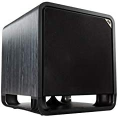 """Polk Audio HTS 12 Powered Subwoofer with Energy Port Know-how   12"""" Woofer, as much as 400W Amp   For the Final Dwelling Theater Expertise   Fashionable Sub that Suits in any Setting   Washed Black Walnut"""
