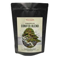 Conifer Bonsai Tree Topsoil Blend - Two Quarts - Tinyroots Brand.  100% Organic and All-Natural Formulated For Juniper Japanese Black Pine White Pine Cedar Cypress And Other Conifers Akadama And 28-Mineral FRIT Mineral Additives