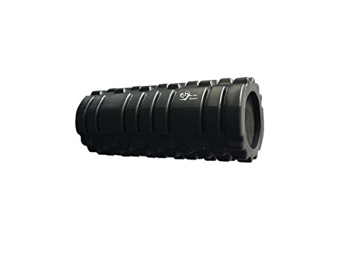 We The Planet Grid Textured Fitness Foam Roller for Muscles and Physical Therapy - Black