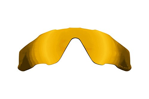 Replacement Lenses Compatible with OAKLEY JAWBREAKER Polarized 24K Gold Mirror