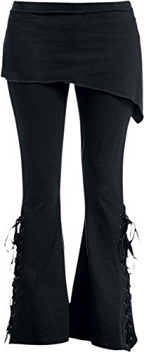 Bootcut Skirt - Spiral - Womens - Urban Fashion - 2in1 Boot-Cut Leggings with Micro Slant Skirt - S Black