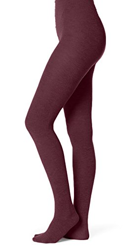 Bamboo Ribbed Sweater - EMEM Apparel Girls' Kids Children's Junior's Flat Knit Bamboo Cotton Sweater Winter School Uniform Opaque Footed Tights Hosiery Stockings Wine 12-14