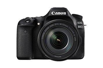 Canon EOS 80D Digital SLR Kit EF-S 18-135mm f/3.5-5.6 Image Stabilization USM Lens (Black) (International Model) No Warranty (Canon Eos Rebel T5i 18 135)