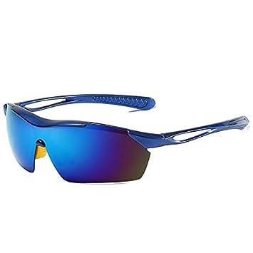Mjia sunglasses Gafas Deportivas Hombre,Gafas de Sol polarizadas Que conducen Las Gafas de, Sol al, Aire Libre Jersey, Gafas, Marco Azul: Amazon.es: ...