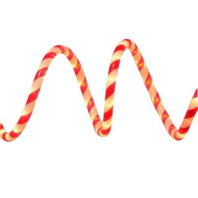 Home Accents Holiday 18 ft. Red and White Candy Cane Rope Light Kit (1) (Neon Lights Neo Christmas)