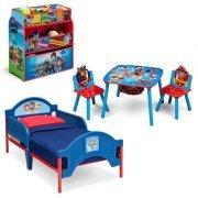 Paw Patrol Toddler Bedroom Set With BONUS Toy Organizer