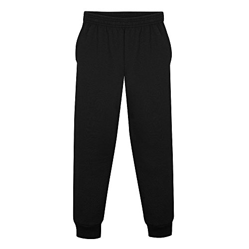Hanes Boys EcoSmart Jogger Sweatpants w/Pockets (OD089) -Black -M