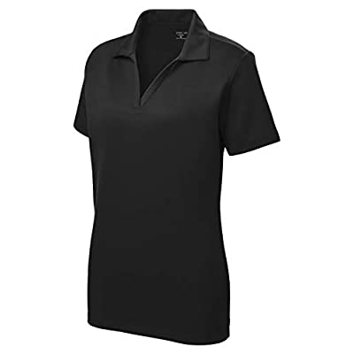 Women's Dri-Equip Short Sleeve Racer Mesh Polo Shirts in Size XS-4XL at Women's Clothing store