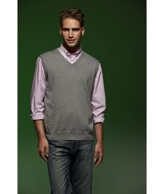 JAMES & NICHOLSON Men V-Neck Pullunder Baumwoll Pullunder Herren, Größe:XXXL;Farbe:green