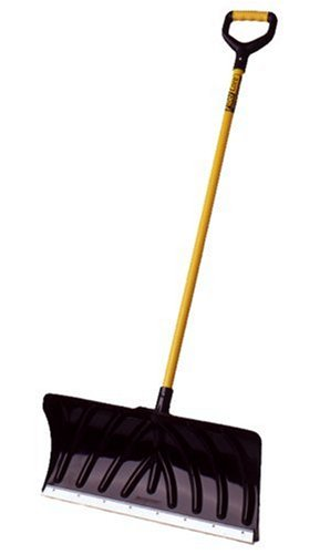 Suncast SPF2450 24-Inch Snow Shovel/Pusher with Fiberglass Handle And Wear Strip (24 Snow)