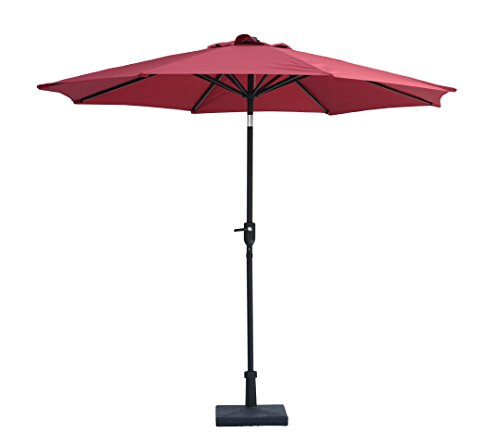 """Jardin du Sud"" 9 Feet Aluminum Patio Umbrella with Auto Tilt and Crank, 220 GSM Fade Resistant Canopy – Bring Shade and Style to your Yard by Jardin du Sud"
