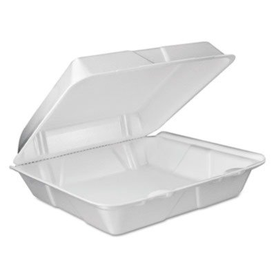 DCC90HTPF1VR - Dart Foam Vented Hinged Lid Containers, 9w X 9 2/5d X 3h, ()