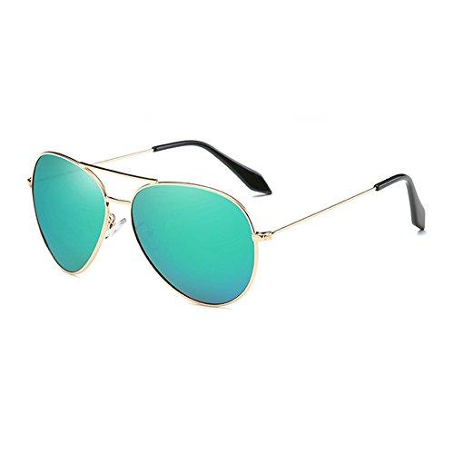 TL green Gafas Gafas de polarizadas Sol UV400 Hombre de Sol Plata Sol gold Sunglasses de Gafas Volver de Mujer Guía pCwrxpRqH