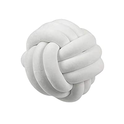 BabyHUIH Knot Ball Plush Throw Pillow Core Cushion Sofa Lumbar Pillow Soft Toy Gift Home Bed Room Couch Decor - 7.87 Inch: Kitchen & Dining