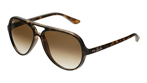 Ray-Ban CATS 5000 Light Havana Sunglasses RB 4125 710/51 59mm + SD Glasses + - Ban Ray Sunglasses 5000 Cats